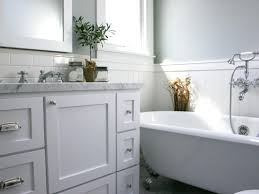 contemporary meets cottage white bathroom a white freestanding