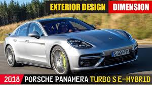 porsche panamera silver 2018 porsche panamera turbo s e hybrid exterior design silver