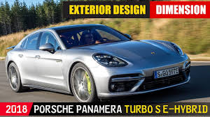 2018 Porsche Panamera Turbo S E Hybrid Exterior Design Silver