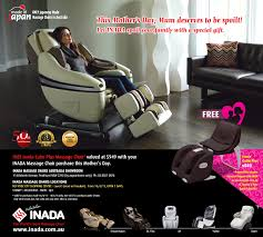 Inada Massage Chair Mothers Day 2015 With Inada Free Inada Cube Plus Massage Chair