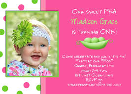 How To Design An Invitation Card Sweet Pea Birthday Invitation Pink Lime Green Photo