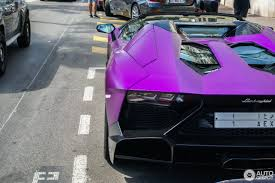 lamborghini purple lamborghini aventador lp700 4 roadster 16 august 2016 autogespot