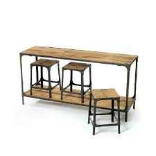 retro dinette industry conference loft bar iron wood dining tables
