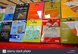 gift card for sale gift cards on sale in a uk supermarket stock photo 64630409 alamy