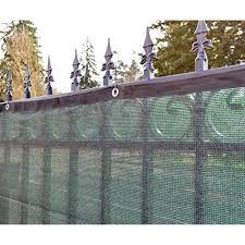 aleko 4 u0027 x 50 u0027 dark green fence privacy screen windscreen shade