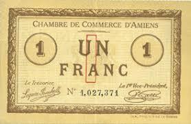 chambre des commerces amiens banknotes emergency notes amiens 80 chambre de commerce