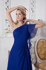 beautiful chiffon royal blue color dresses