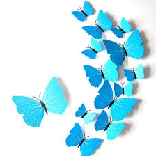 home bedroom refrigerator magnetic butterfly wall sticker