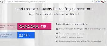 finding a nashville roofer angie s list reviews tennessee