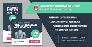 animated hosting banners html5 google web designer by infiniweb