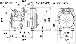 semi hermetic compressor h series dorin