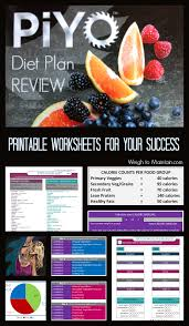 review piyo meal plan diet for weight loss with printables