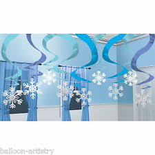 Hanging Party Decorations 15 Winter Wonderland Frozen Snowflake Christmas Party Hanging