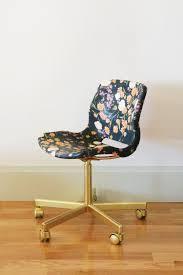 Diy Desk Chair Diy Fabric Decoupaged Office Chair Green Notebook