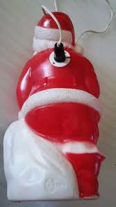 Santa Claus Blow Mold Christmas Decoration by Union Santa Claus Blow Mold With Christmas List 45