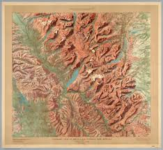Yosemite Topo Map Gorgeous 1914 Relief Maps Of Six National Parks