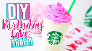 birthday cake drink diy starbucks birthday cake frappuccino youtube