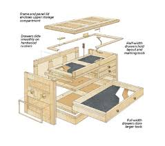 Build A Simple Toy Chest by Wood Rolling Tool Chest Plans Wood Working Pinterest Woods