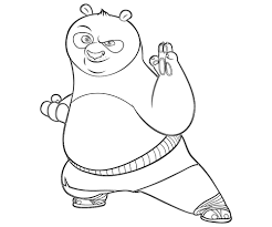 4 kungfu panda printable coloring pages coloring pages