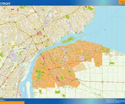 map usa detroit detroit vector map eps illustrator vector city maps usa america