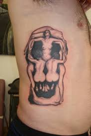 salvador dali skull of women tattoo practically there likes