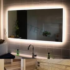 eterna edgeless led light up from behind led bathroom mirror buy