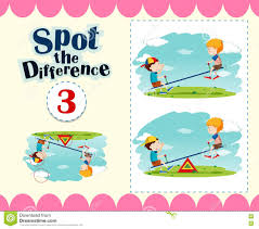 Game Template Of Spot The Difference Stock Vector Image 72047476