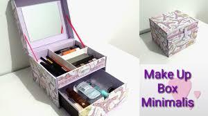 diy how to make a makeup box minimalis diy makeup organizer