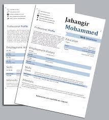 word resume template 2014 cv template uk