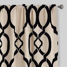 Curtains World Market Black Trellis Ethel Flocked Chambray Curtains Set Of 2 World Market