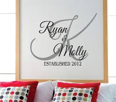 Personalized Wall Decor Best 25 Monogram Wall Decals Ideas On Pinterest Personalized