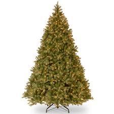 national tree pre lit 9 u0027 feel real downswept douglas fir hinged