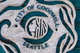 handmade distressed wooden seattle city flag vintage art