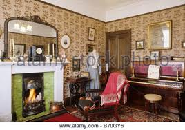 livingroom glasgow living room tenement house glasgow stock photo royalty free image