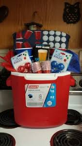 great gifts for him gifts for him pong cooler gift basket bachelor raffle stag