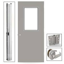 Flush Exterior Door Left Inswing Commercial Doors Exterior Doors The Home Depot
