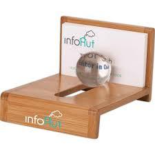 wooden zoom card holder