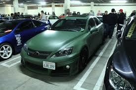 dark green lexus socal scene night import presents