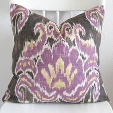 Purple Ikat Curtains Purple And Yellow Ikat Fabric Pillows Charcoal Purple And Yellow