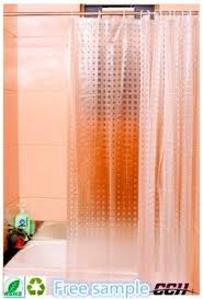 Transparent Shower Curtain Eco Friendly New 3d Elegant Pattern Eva Shower Curtain Plastic