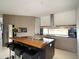 Discount Kitchen Islands With Breakfast Bar Black Wooden Kitchen Island Breakfast Bar With Natural Wooden