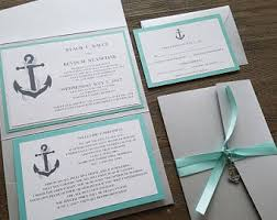 Wedding Invitations Nautical Theme - nautical wedding invitation anchor invitations coast wedding
