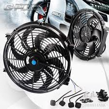 electric radiator fans 14 universal slim pull push racing electric radiator engine