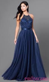 halter dress embroidered elizabeth k halter dress promgirl