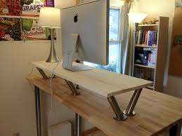 ikea stand desk how to make a standing desk on top of a regular desk examined