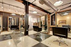 salons calgary south hair and makeup salon interior with industrial modern concept