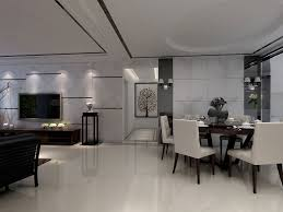 dining room with a simple modeling design interior design