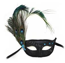 peacock masquerade masks black w peacock feathers masquerade mask
