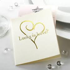 lottery ticket wedding favors 10 lottery ticket scratch card holders wedding favours ivory gold