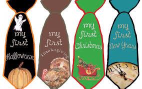 new years ties baby boy necktie stickers tie stickers 1st holidays